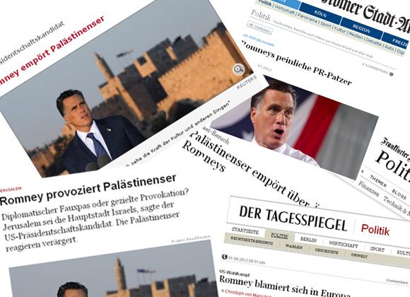 Romney Kollage aus Zeitungsartikeln