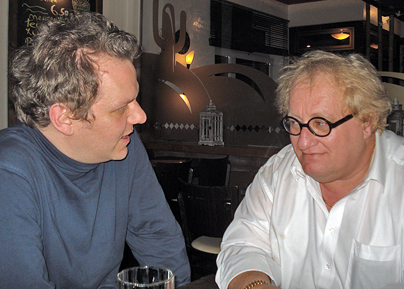 Tuvia Tenenbom (rechts) mit Stefan Frank. © Stefan Frank.